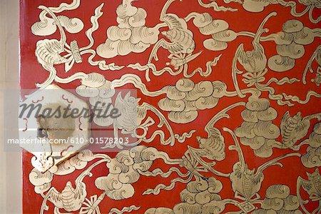 China, Beijing, Forbidden City, close-up of a door