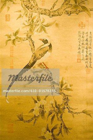 China, Beijing, Peninsula Palace Hotel, traditional wall painting