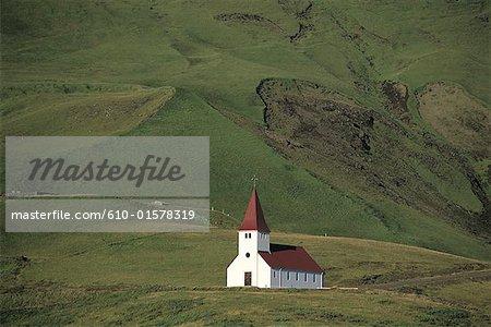 Iceland, Vik, church