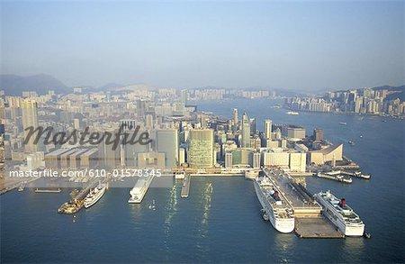 China, Hong Kong, aerial view of Kowloon