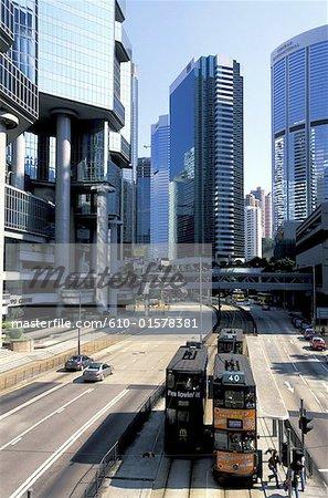 China, Hong Kong, Central District, tramway