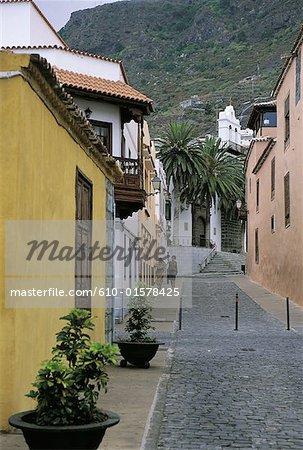 Spain, Canary Islands, Tenerife, Garachico, lane