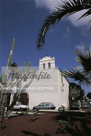 Spain, Canary Islands, Lanzarote, Yaiza, church of Nuestra Senora de Los Remedios