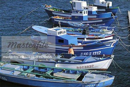Spain, Canary Islands, Lanzarote, Arrecife, harbour