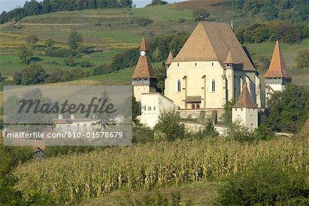 Romania, Transylvania, church of Biertan citadel
