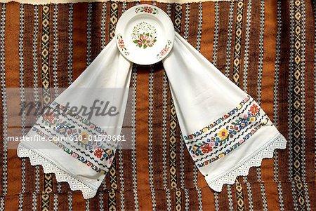 Romania, Transylvania, Ibanesti, craftwork