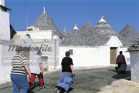 "Italy, Apulia, Alberobello, traditional dwellings called ""Trullo"""