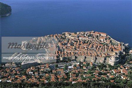 Croatia, Dalmatia, Dubrovnik, aerial view
