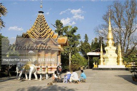 China, Yunnan, Xishuangbanna, Menghai, Buddhist temple