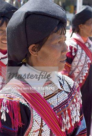 China, Yunnan, Lancang, Lahu woman portrait