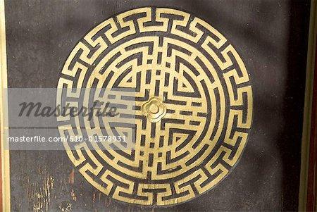 China, Yunnan, Lijiang, traditional chinese pattern