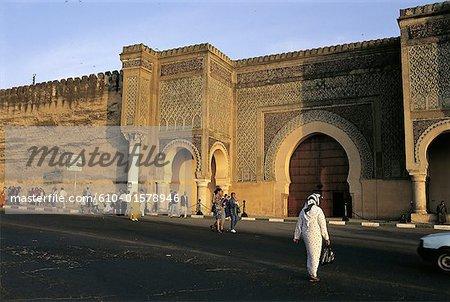 Morocco, Meknes, Bab Mansour Gate