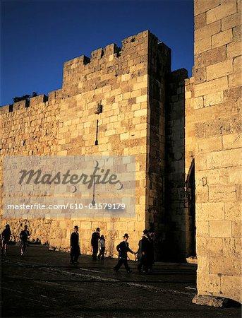 Israel, Jerusalem, old city walls