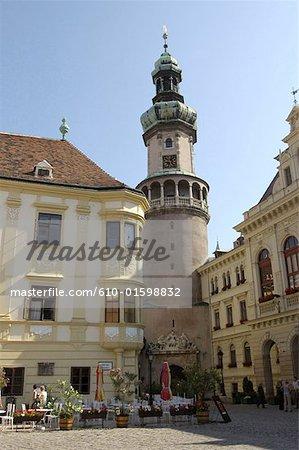 Hungary, Sopron, Fö tér Place, Fire Tower