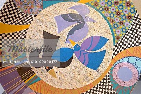 South Africa, Zululand, Durban, decorative plate