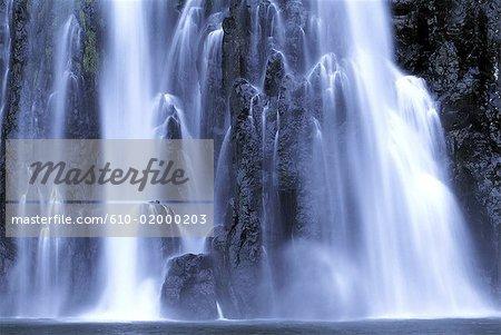 Reunion, Sainte-Suzanne, so-called Niagara waterfall