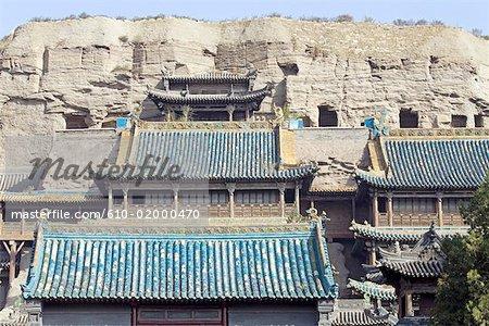 China, Shanxi province, Datong, Yungang grottoes, temple