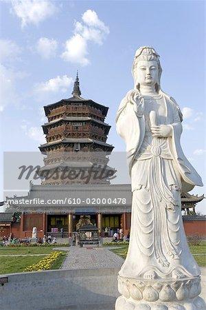 China, Shanxi province, Yinxian, wooden pagoda