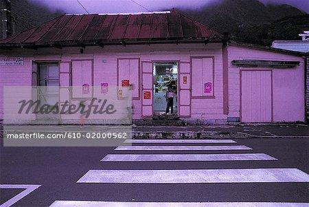 Reunion, Salazie, shop at dusk