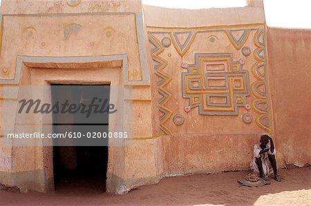 Niger, Zinder, district of Birni, Hausa house