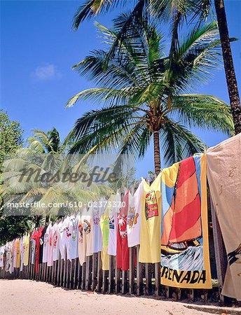 Granada, Grand anse beach, t-shirts on sale