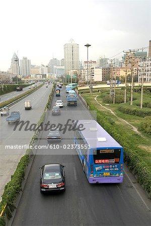 China, Xinjiang, Urumqi, urban freeway