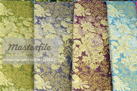 China, Xinjiang, Turpan, fabrics