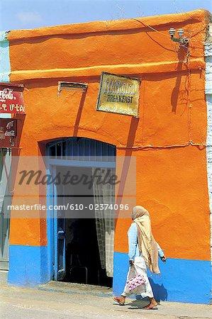 Ethiopia, Harar, restaurant,facade