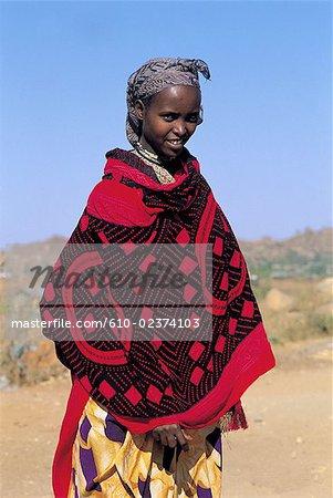 Ethiopia, region of Harar, portrait of an Oromo woman