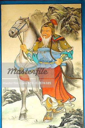"China, Beijing, Summer Palace ""Yiheyan"", fresco"