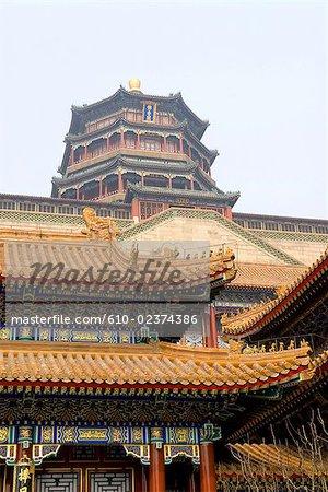 "China, Beijing, Summer Palace ""Yiheyan"", tower of buddhist incense"