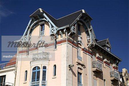 France, Pas-de-Calais, Opal Coast, Wimereux, half-timbered houses