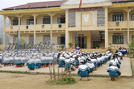 Vietnam, Bac Ha village, school.