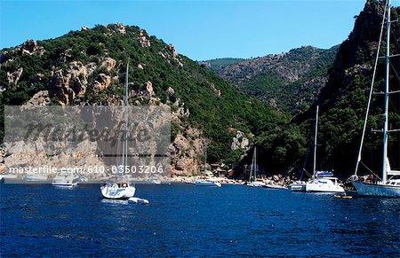 France, Corsica, gulf of Porto, calanque de Piana.