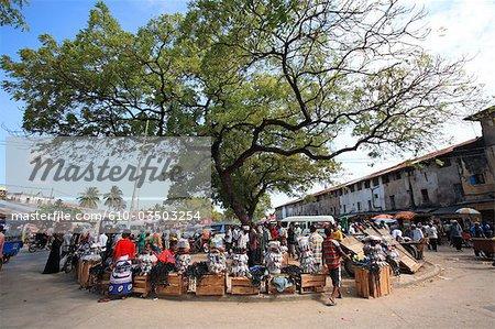 Tanzania, Zanzibar (Unguja island), Zanzibar city, market of Stone Town.