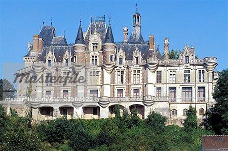 France, Centre, castle of Montigny le Gannelon