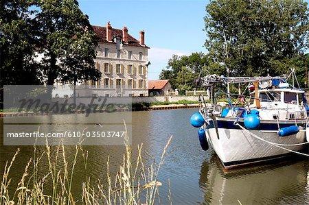 France, Burgundy, Ancy Le Franc, Burgundy canal, windmill of Cusy