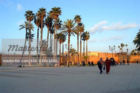 Morocco, Oujda, promenade along the ramparts