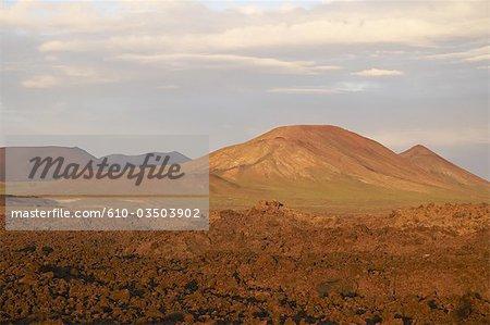 Spain, Canary islands, Lanzarote, volcanoes