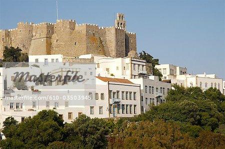 Greece, Dodecanese, Patmos, monastery of St John the theologian
