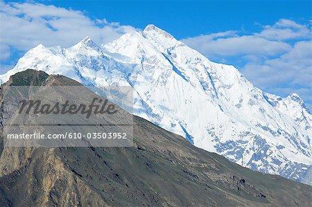 Pakistan, Hunza valley, Rakaposhi mountain