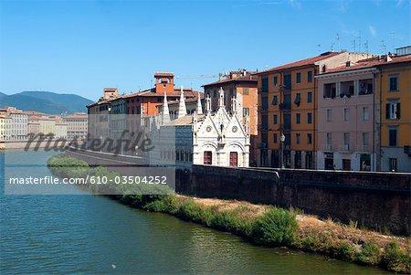 Italy, Tuscany, Pisa, the Arno