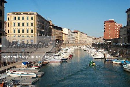 Italy, Tuscany, Livorno, the canal