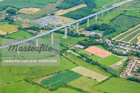 France, Pas-de-Calais, aerial view of Echinghen