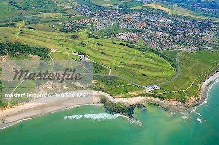 France, Pas-de-Calais, aerial view of Pointe aux oies