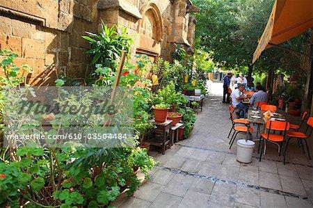 Cyprus, Nicosia, restaurant behind Stafros tou Missirikou mosque