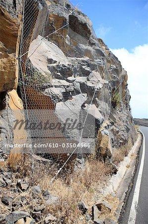 Spain, canary islands, Gomera, netted rocks