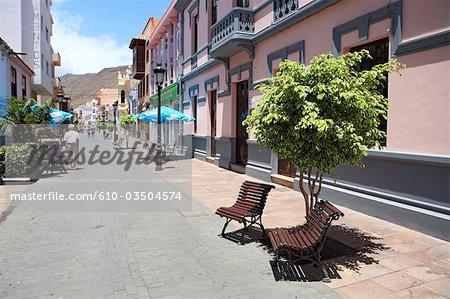 Spain, canary islands, Gomera, San Sebastian, Calle Real