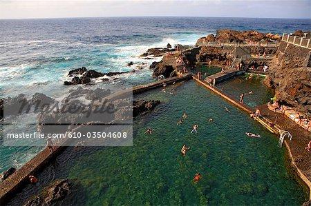 Spain, Canary islands, La Palma, seawater pool