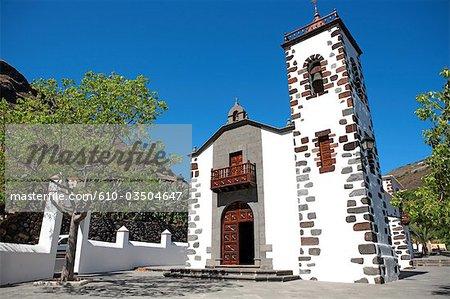 Spain, Canary islands, La Palma, Tazacorte, nuestra senora de las angustias church
